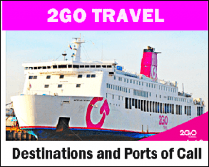 2Go Travel Routes, Destinations and Ports of Call