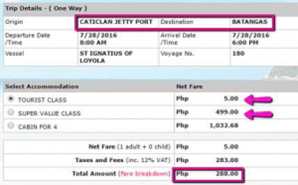 Caticlan to Batangas Promo Ticket