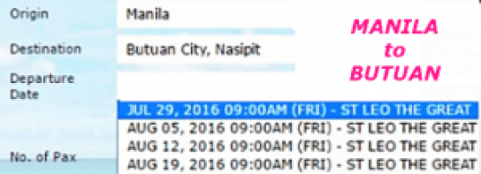 Manila_to_Butuan August Ship Schedules
