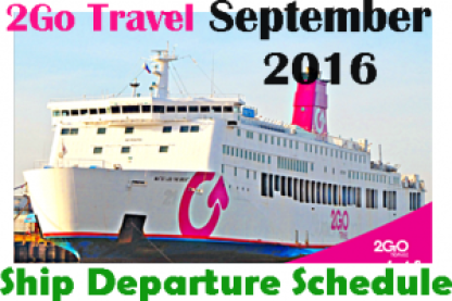 2Go Superferry September 2016 Ship Sailing Schedules
