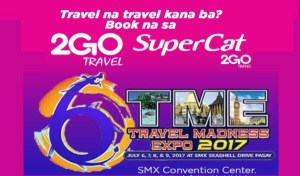 Grab 2Go Travel Promo Tickets at TME Travel Madness Expo 2017