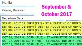 Manila-to-Coron-September-and-October-2017-Ship-Schedul