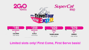 2Go SuperCat 2018 Promos at 25th PTAA Travel Expo