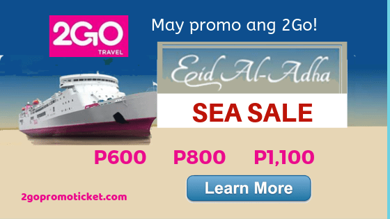 2Go PROMO TICKETS 2018 and MORE BOAT INFO – Promo fare