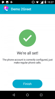 11. 2Greet is now ready to make calls using the default dialer
