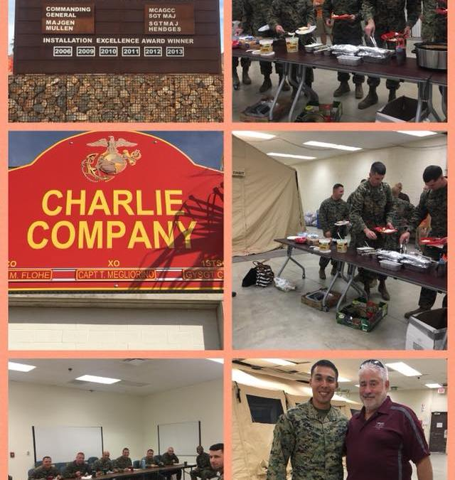 Texas Style BBQ to the MCCES Marines in 29 Palms, CA!