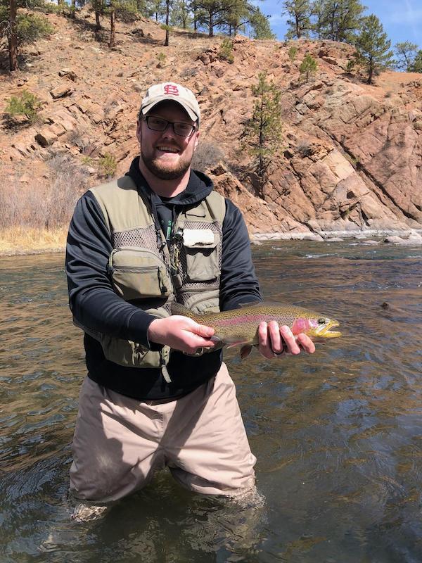 landing large trout