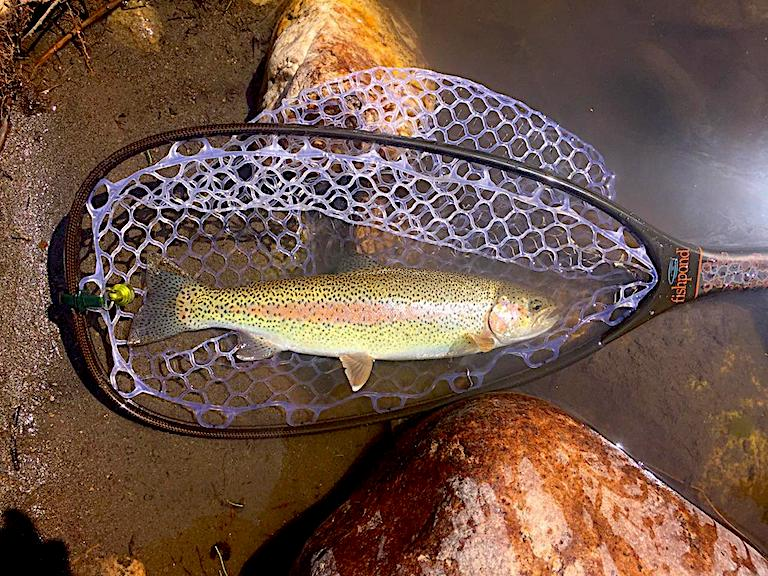 Network Pattern Fishing Sub with String Strap Basket Trout Pike passed River