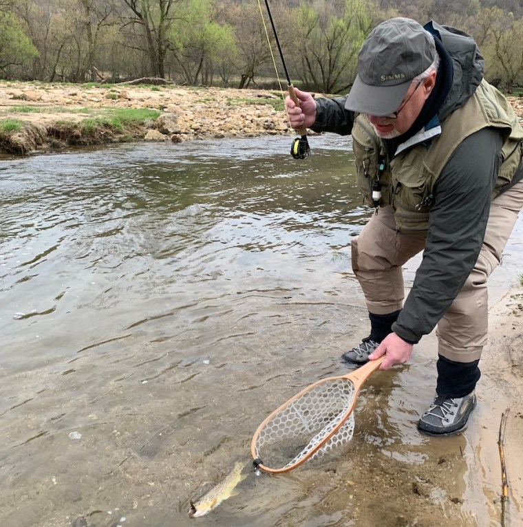 dry fly fishing during a hatch