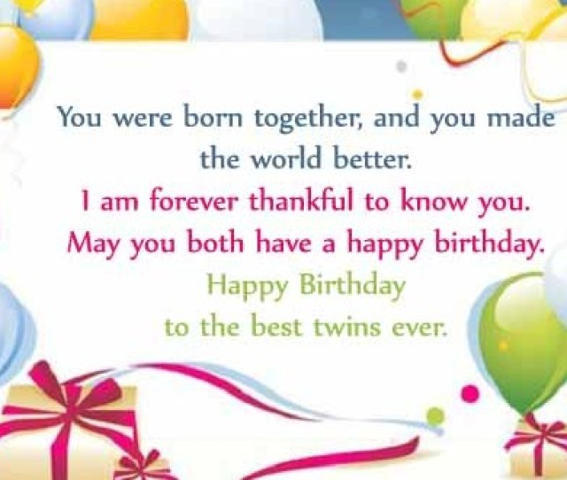 Happy Birthday Twins Wishes Quotes