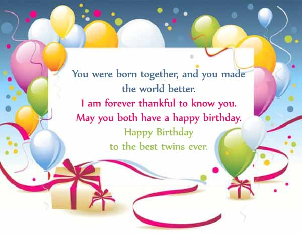 happy birthday twins wishes
