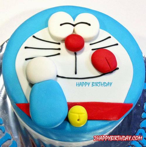 Happy Birthday Doraemon Cake With Kids Name 2happybirthday