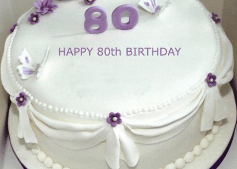 Happy 80th Birthday Cake With Name Edit 2happybirthday