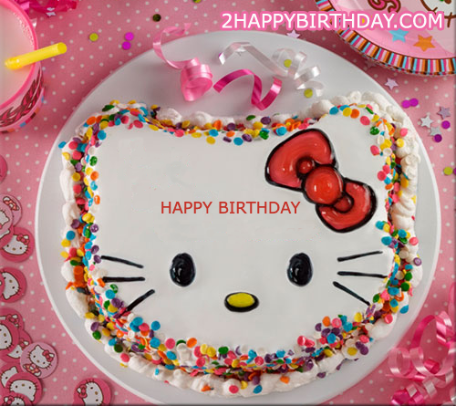 Hello Kitty Birthday Cake For Kids With Name 2happybirthday