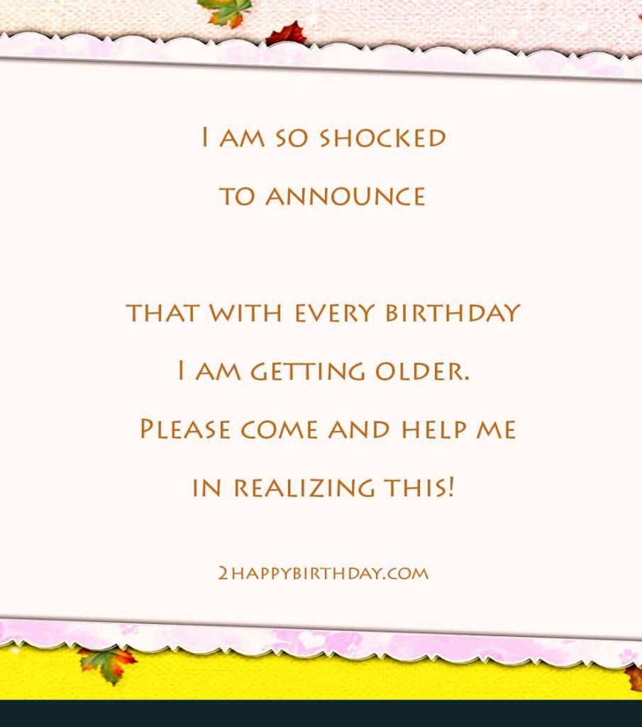 birthday invitation messages wordings