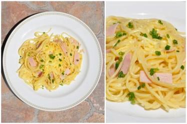 Anni vonLiebe geht durch den Magennahm sich das Kriterium, dass es schnell gehen sollte, sehr zu Herzen und kochteSpaghetti Express- ein Essen mit wenigen Zutaten, dass kaum länger dauert als die Nudeln zum Kochen brauchen.