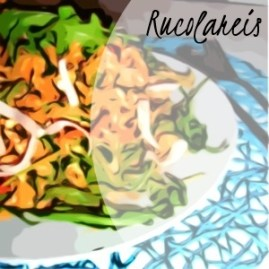 Rucola-Reis mitTomatensoße