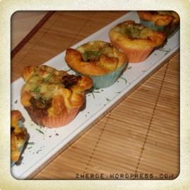 Champignon-Blätterteig-Muffins