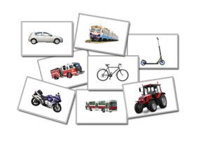 Kids games with transport flashcards