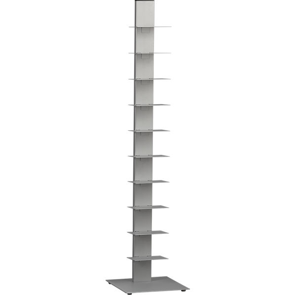 Array Silver Bookcase Cb2