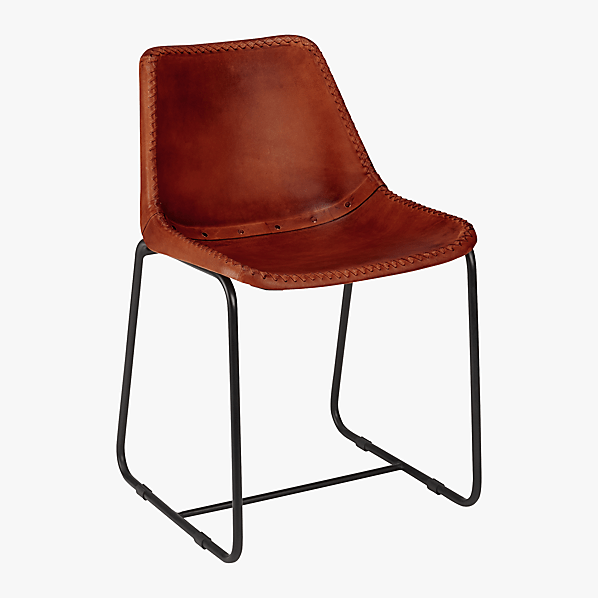 roadhouse leather chair  CB2
