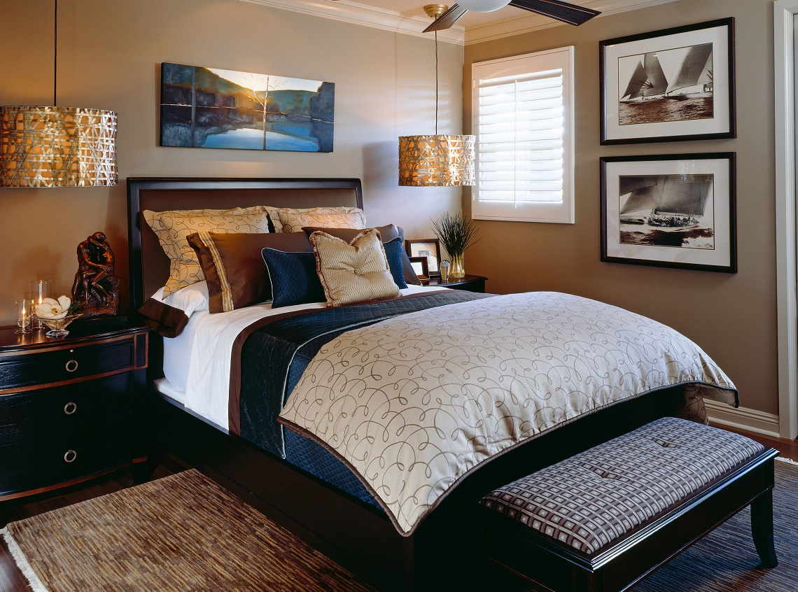 Classic Sophisticated Bedroom Before And After
