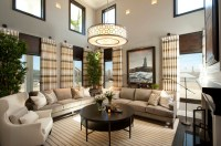 Hamptons Inspired Luxury Home Living Room Robeson Design ...