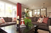 Stylish Transitional Family Room Robeson Design | San ...