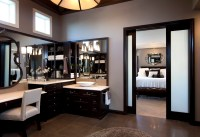 Stylish Transitional Master Bathroom Before and After ...