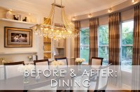 Glamorous Modern Dining Room Before and After Robeson ...