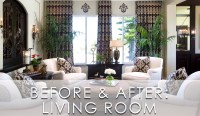 Modern Traditional Living Room Before and After