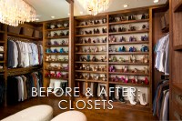 Vibrant Transitional Master Closet Before and After   San ...