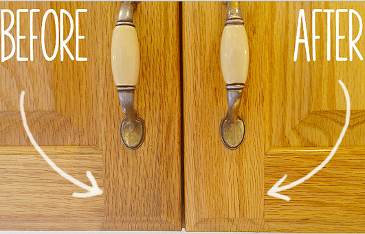 Secret to cleaning Gunky Kitchen Cabinets