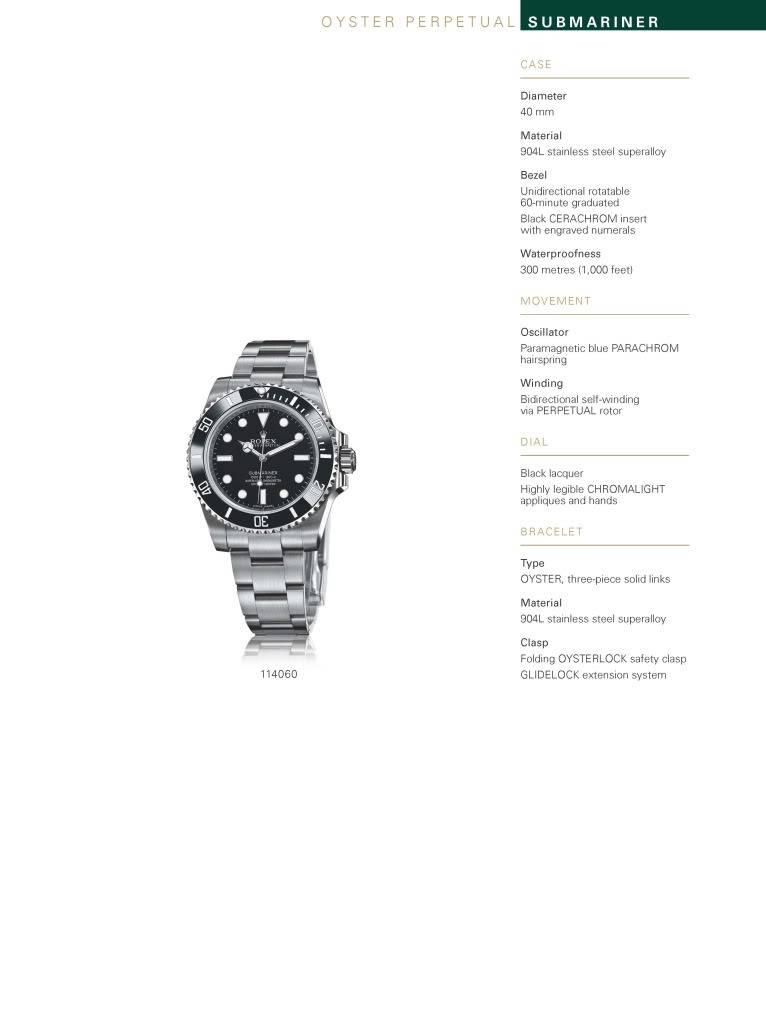 Bâle 2012 : Rolex Submariner 114060
