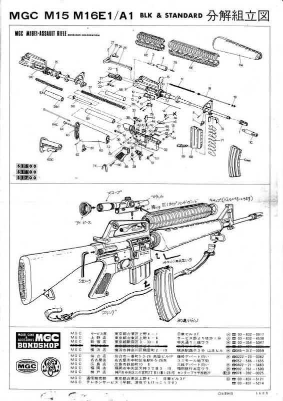 m16 exploded diagram 2000 honda civic si radio wiring mgc m16a1 manual view of the early one with removable barrel