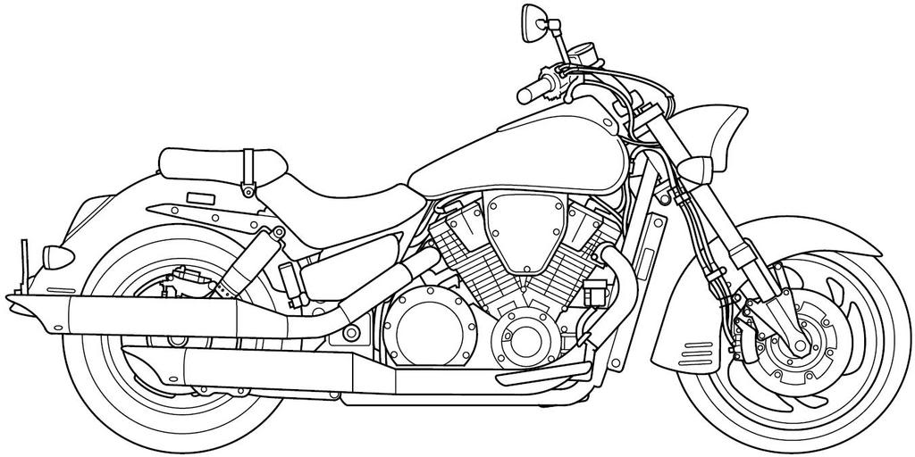 Motorcycle Line Art