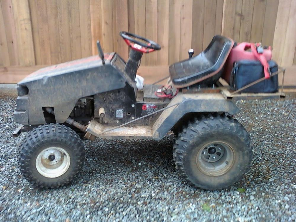 medium resolution of how to build a lawn tractor atv rack 100522 162032