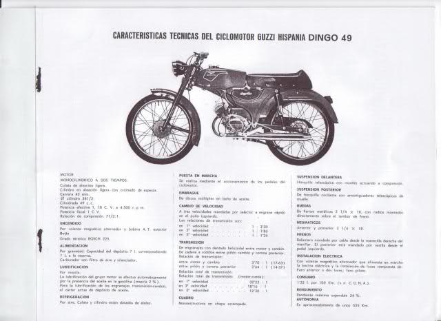 Manual despiece Dingo 49, 1965.