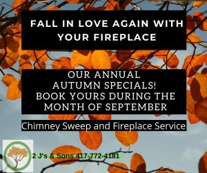 chimney sweep and fireplace service