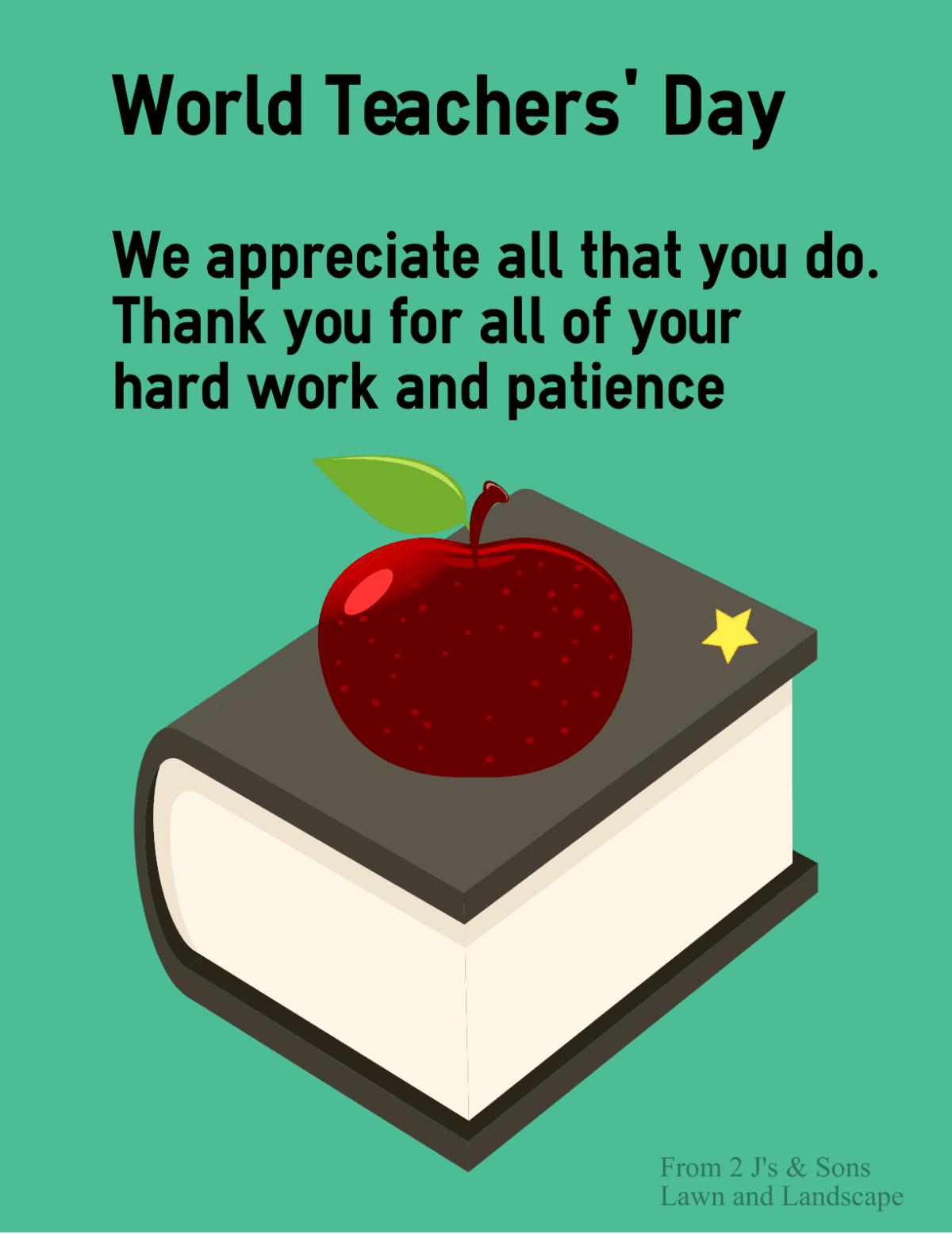 thank you teachers and educators
