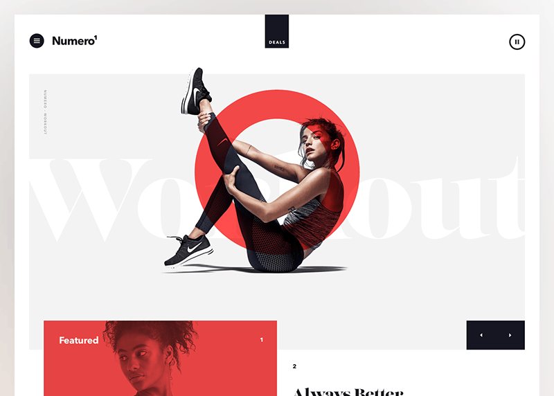 Web Design Trends Example: Blending Photos with Graphical Elements