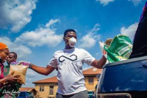 Ayodeji Alayande CEO IRASA Clothing Oyo state relief materials donation