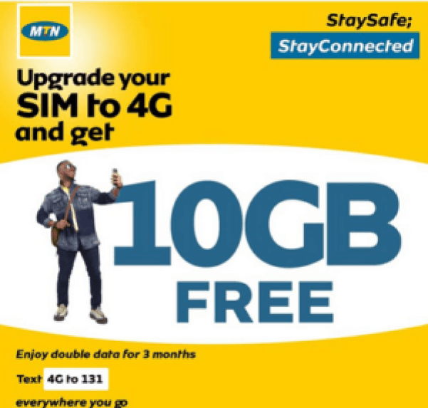 MTN Free 10GB – Even though MTN 4G has covered every city in Nigeria and at least about 50% rural areas, not all subscribers have upgraded their 3G SIM to 4G SIM which in other words will limit your browsing experience.