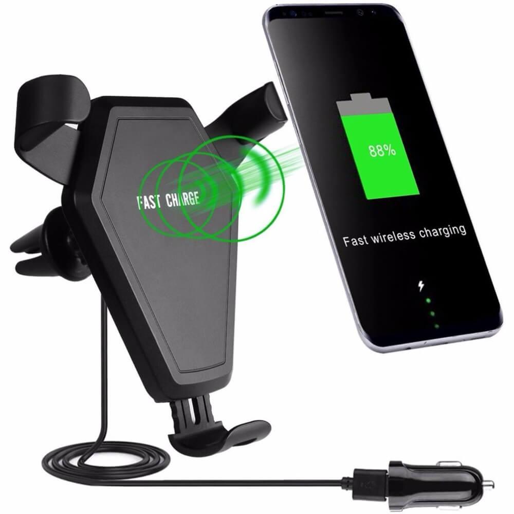 Fast Wireless Car Charger - держатель для телефона в автомобиль с функцией беспроводной зарядки