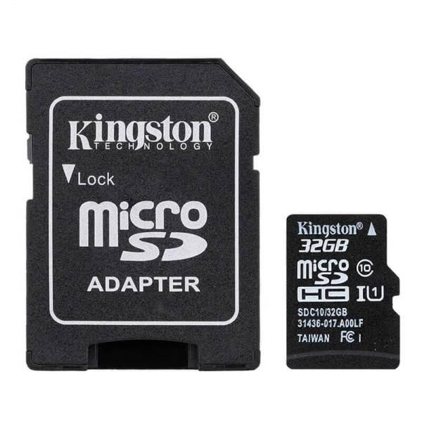 Карта памяти Kingston MicroSDHC 32GB Class 10 + SD Adapter