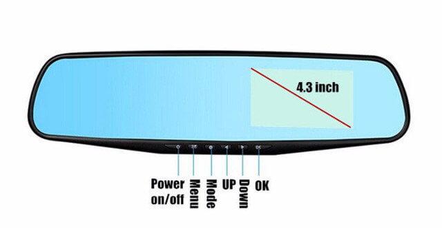 Зеркало заднего вида Видеорегистратор на 2 камеры BLАСKBОХ DVR Full НD