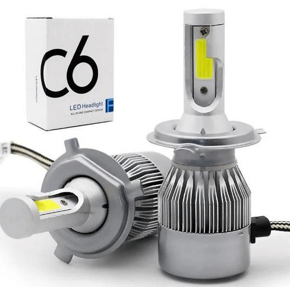 Комплект светодиодных автомобильных LED ламп C6 H4 (ближний/дальний)