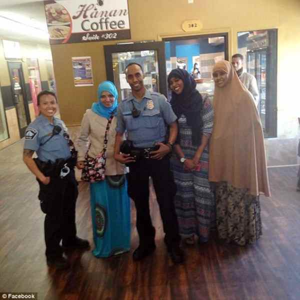 Officer Noor with other Muslims