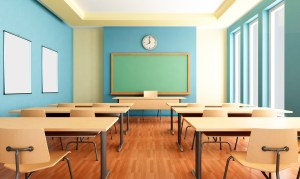 training classroom desk desks elementary row teacher rows there vertical successfully