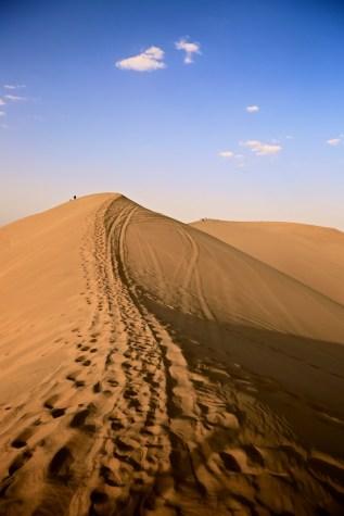 Die Wüste bei Dunhuang
